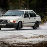 En av de olika Volvo bilarna som körde. Foto: Henrik Andersson