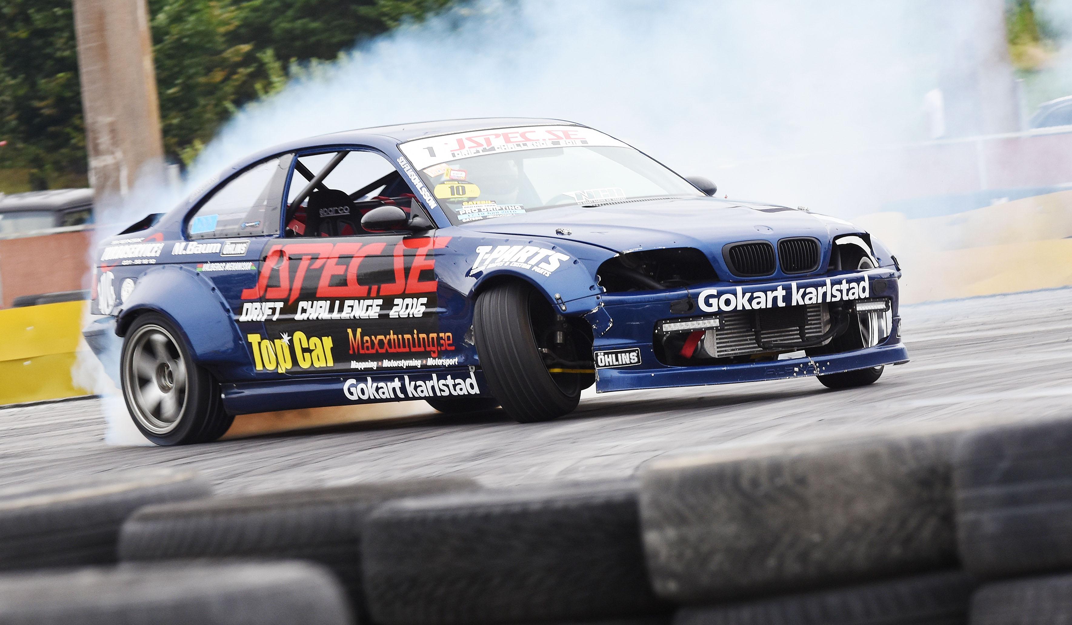 Alexander Granlund under J-Spec Drift Challenge, foto: Stefan Lindgren