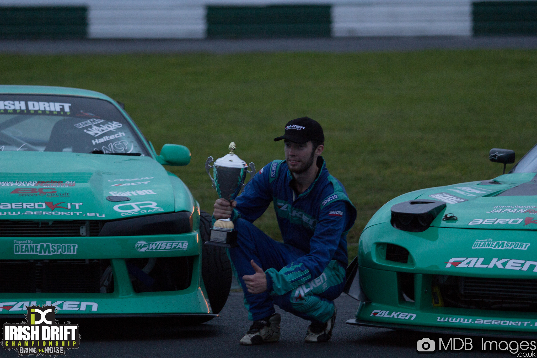 James Deane, bild från Irisch Drift Championship